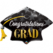 Congratulations Grad Stars Large Foil Balloon 1pc